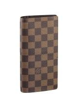 Кошелёк Louis Vuitton Damier Ebene Brazza Wallet N63022